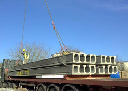 precast concrete and slabs hollow core